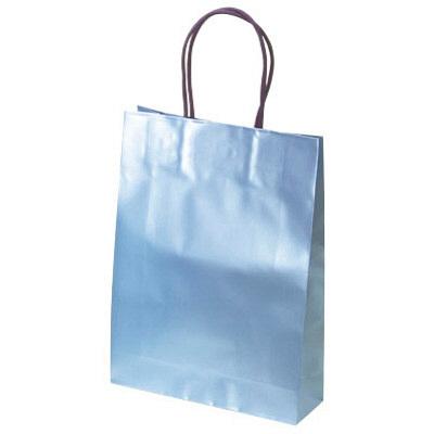 手提げ紙袋 ブルー 中 20枚