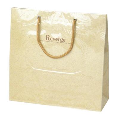 タカ印 手提げバッグ リバージュミニ ベージュ 50-6528 1セット(5枚入り) (取寄品)