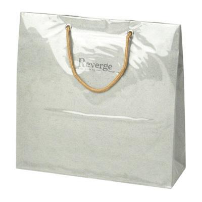 タカ印 手提げバッグ リバージュミニ グレー 50-6529 1セット(5枚入り) (取寄品)
