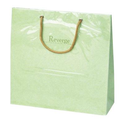 タカ印 手提げバッグ リバージュミニ グリーン 50-6530 1セット(5枚入り) (取寄品)