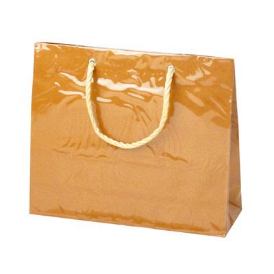 タカ印 手提げバッグ キャリーバッグS 茶 50-6534 1セット(5枚入り) (取寄品)