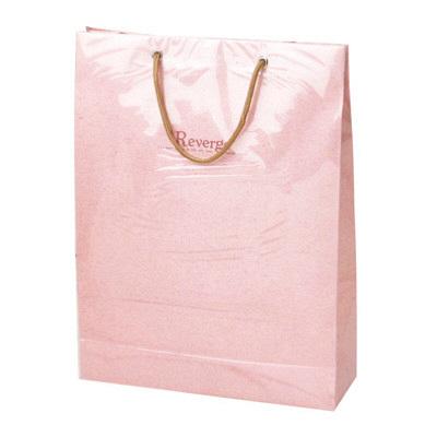 カバー付 手提げ紙袋 ピンク 5枚