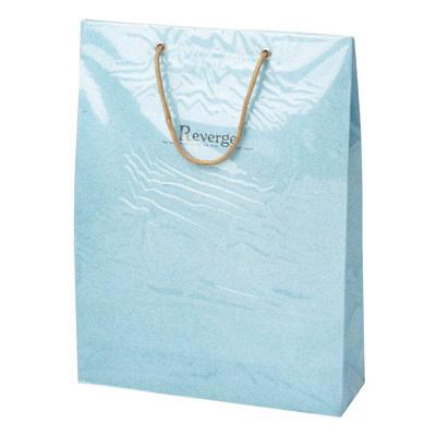 カバー付 手提げ紙袋 ブルー 5枚