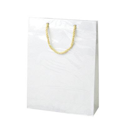 カバー付 手提げ紙袋 白 M 5枚