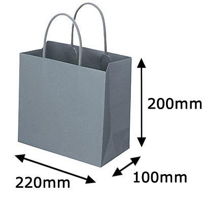 丸紐 手提げ紙袋 グレー M 300枚