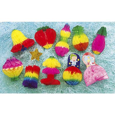 ササガワ 七夕飾り でんぐり 10点セット 46-8650 1セット (取寄品)