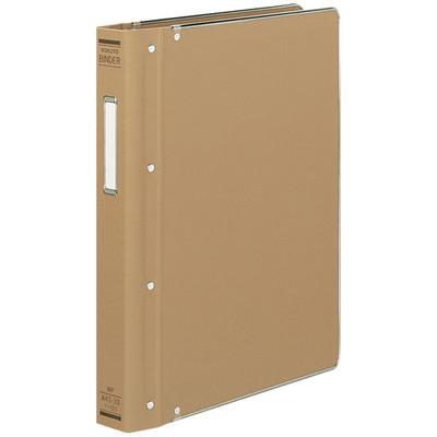 コクヨ バインダーMP A4 総布貼 縁金付 30穴 200枚収容 ハ-123 1セット(3冊:1冊×3)
