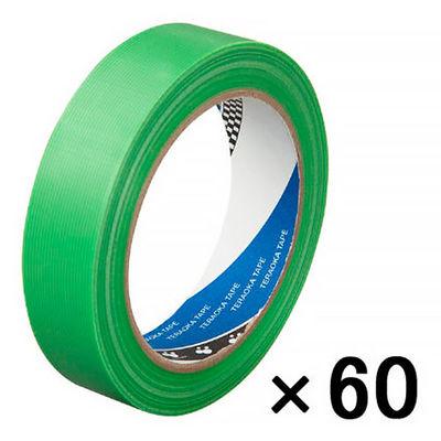 寺岡製作所 Pカットテープ若葉(25ミリ巾) 緑 4140 1箱(60巻入)