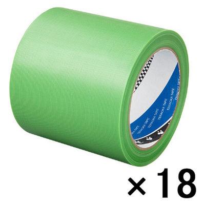 寺岡製作所 Pカットテープ若葉(100ミリ巾) 緑 4140 1箱(18巻入)