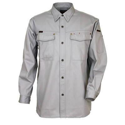 カジメイク スーパーソルジャーシャツ シルバーG L 6682 (取寄品)