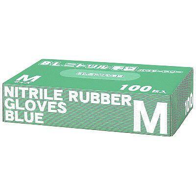 ハウディ BLニトリル手袋 M 粉なし(パウダーフリー) RS-058 1箱(100枚入) (使い捨て手袋)