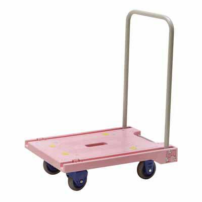 ミニ環境静音樹脂台車 ピンク PM-150GS-P 金沢車輌 (直送品)