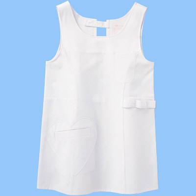 ショートエプロン(ハートポケット) AIT861371 ホワイト M