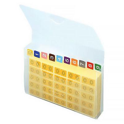 リヒトラブ カラーナンバーラベルM アソートパック HK7753 1箱(25片入×100シート)