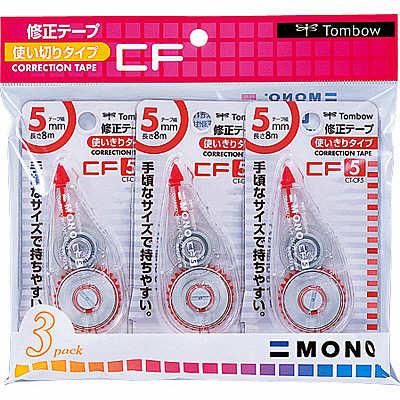 トンボ鉛筆【MONO】修正テープ 使いきりタイプ モノCF5 5mm×8m KCA-323 3個入×2パック (直送品)