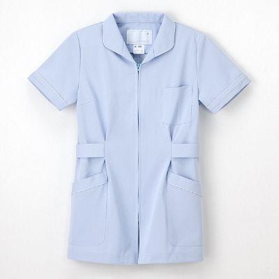 ナガイレーベン ナースジャケット 女性用 半袖 ブルー EL HO-1992 (取寄品)