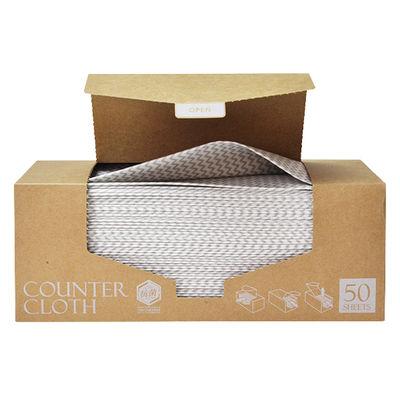 【先行販売】カウンタークロス ボックスタイプ 厚手 グレー 1箱(50枚入)ストリックスデザイン
