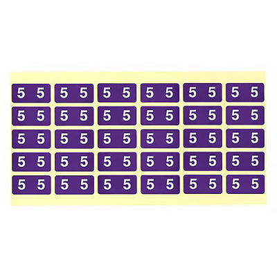 フィリオ ナンバーラベル カラー 「5」 MS-NRK5 1パック(150片入)
