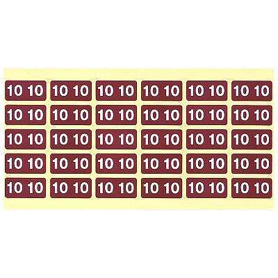 ナンバーラベル カラー「10」 1パック