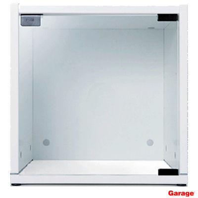 Garage(ガラージ) キューブコンポラック ガラス扉 下置き専用 白 幅366mm 奥行400mm 高さ376mm 1台 (直送品)