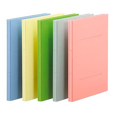フラットファイル背幅伸縮A4 5色10冊