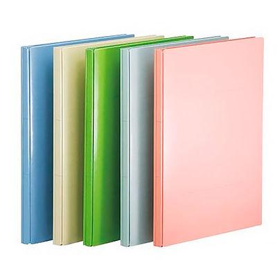 アスクル 背幅伸縮ファイル(PPラミネート表紙) A4タテ 5色アソート 10冊