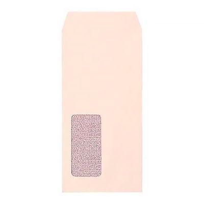 今村紙工 透けない窓付き封筒 テープ付 長3 ピンク MD-W06 200枚