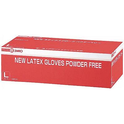 NEWラテックスグローブ パウダーフリー L 241340 1箱(100枚入) 三興化学工業 (使い捨て手袋)