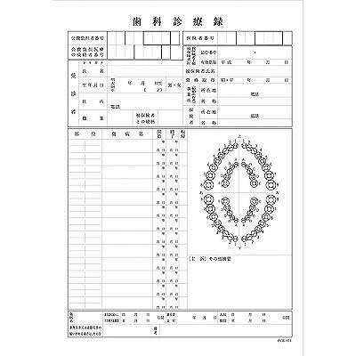 A4歯科診療録 1号紙 黒刷 CCE021 1袋(100枚入) イムラ封筒