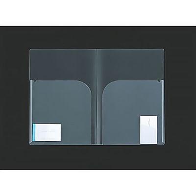 ニックス 2ポケットホルダー A4-CHW10-02 1セット(100冊:10冊入×10袋)