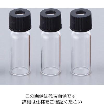 アズワン オートサンプラー用バイアル 11231046S 透明バイアル+黒キャップ(セプタム付き) 1箱(100セット入) 1ー1388ー01 (直送品)