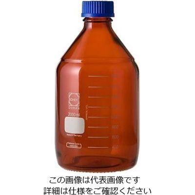 アズワン ねじ口瓶丸型茶褐色(デュラン(R)・017210) 2000mL GLー45 1ー1961ー07 1本 1ー1961ー07 (直送品)