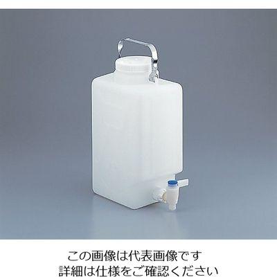 アズワン フッ素加工活栓付角型瓶 9L 1ー6487ー01 1本 1ー6487ー01 (直送品)