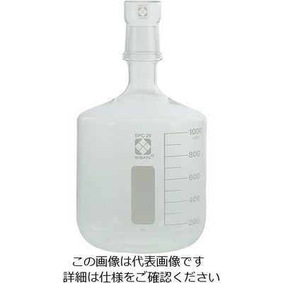 柴田科学 SPC保存びん (目安目盛・メスキャップ付き) 1000mL 1個 1-7073-04 (直送品)
