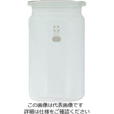 柴田科学 セパラブルフラスコ(平面摺合タイプ) 2000mL φ146mm びん形 1個 1-7801-02 (直送品)