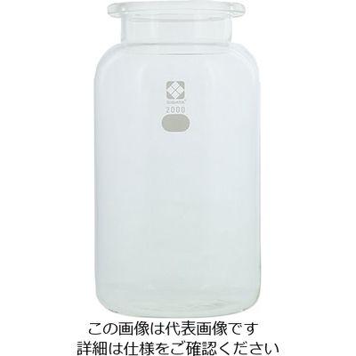 柴田科学 セパラブルフラスコ(平面摺合タイプ) 2000mL φ138mm びん形 1個 1-7805-01 (直送品)
