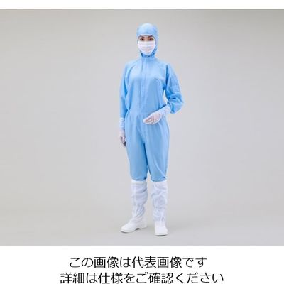 アズワン 無塵衣AS197C フード付 青 M 1着 1-7865-02 (直送品)