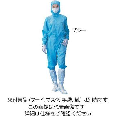 アズワン 無塵衣AS199C 男女兼用 青 M 1着 1-7866-02 (直送品)