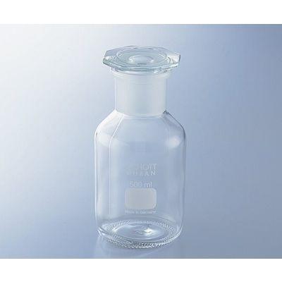 アズワン 試薬瓶(広口・栓付き)デュラン(R) 白 500mL 1-8398-04 (直送品)