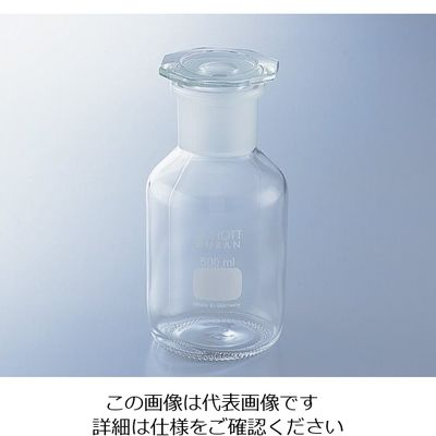 アズワン 試薬瓶(広口・栓付き)デュラン(R) 白 5000mL 1-8398-07 (直送品)