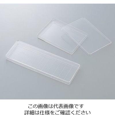アズワン 角型透明ディッシュ 235×85mm 10枚×10袋入 1箱(100枚) 2-5316-01 (直送品)