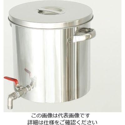 日東金属工業 耐薬品性に優れた ステンレスバルブ付タンク 36L 1個 2-8225-07 (直送品)