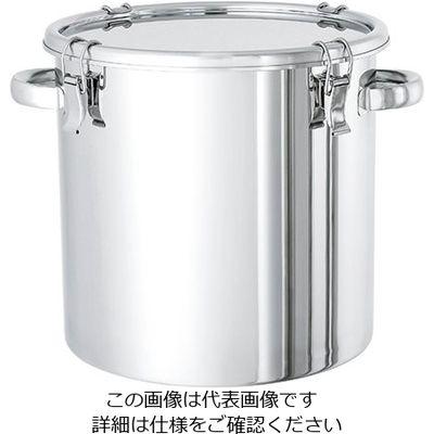 日東金属工業 電解研磨処理済 ステンレス密閉容器 10L 1個 2-8256-02 (直送品)
