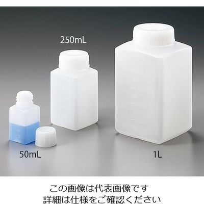 10L 017250-210000 【柴田科学】 白キャップ付 ねじ口びん 広口