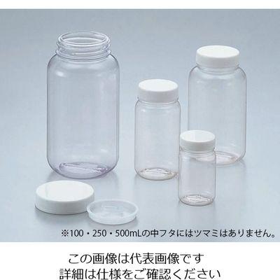 アズワン クリヤ広口瓶(透明エンビ製) 100mL ケース販売488本入 1箱(488本) 5-031-51 (直送品)