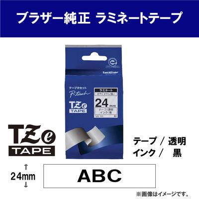 ピータッチ 24ミリ 透明テープ 黒文字