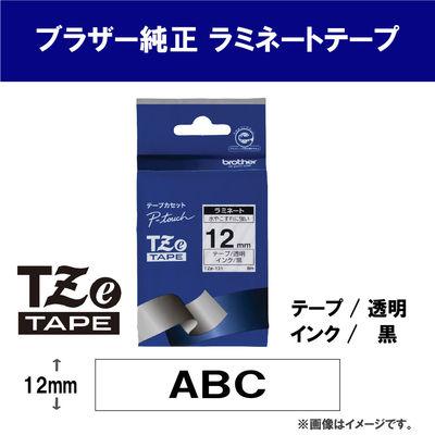 ピータッチ 12ミリ 透明テープ 黒文字