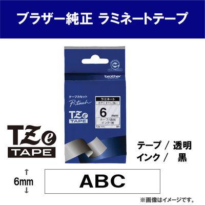 ピータッチ 6ミリ 透明テープ 黒文字
