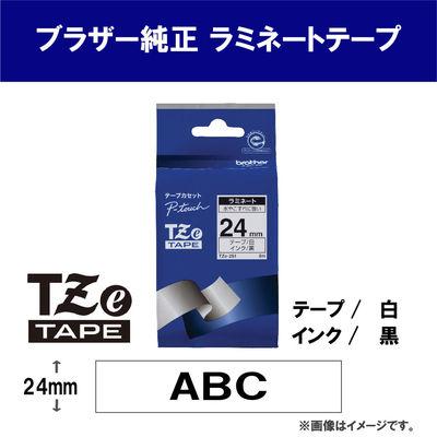 ピータッチ 24ミリ 白テープ 黒文字