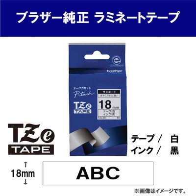 ピータッチ 18ミリ 白テープ 黒文字
